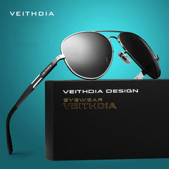 VEITHDIA Aluminum Magnesium Men's Sunglasses Polarized Sun Glasses Male Driving Fishing Outdoor Eyewears Accessories Men 6695 - Sunglasses Outlet