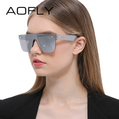 AOFLY Sunglasses Men Women Luxury Brand Rimless Fashion Sunglasses Square Mirror Sun Glasses High Quality Shades Glasses UV400 - Sunglasses Outlet