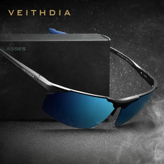 Aluminum Magnesium Men's Sunglasses Polarized Sports Blue Coating Mirror Driving Sun Glasses Eyewear Accessories For Men 6587 - Sunglasses Outlet