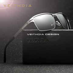 VEITHDIA Stainless Steel Men's Sun Glasses Polarized Driving Oculos masculino Male Eyewear Accessories Sunglasses For Men 2711 - Sunglasses Outlet