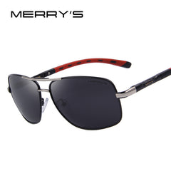 MERRY'S Men Aluminum Polarized Sunglasses EMI Defending Coating Lens Classic Brand Driving Shades S'8714 - Sunglasses Outlet
