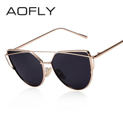 AOFLY Polarized Sunglasses Women Fashion Summer Style Sun glasses for Women Vintage Classic Brand Designer Twin-Beams Shades