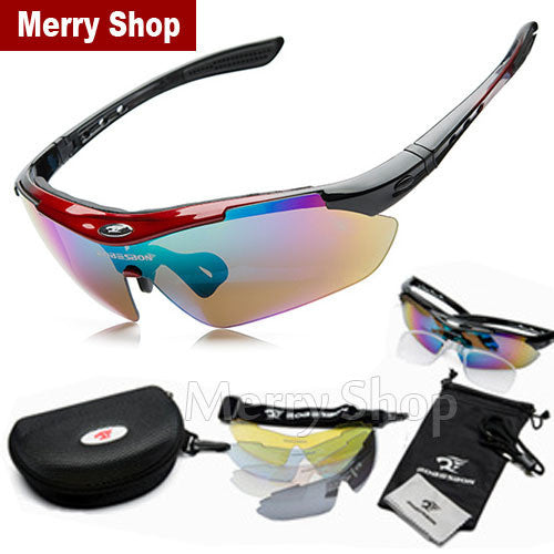 2015 New Men Glasses Sunglasses 5 Lenses Goggles Eyewear Cool with Exchangeable 5 Lens White Frame - Sunglasses Outlet