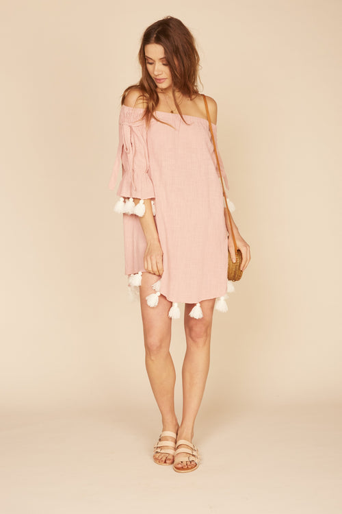Pink Chunky Tassel Dress