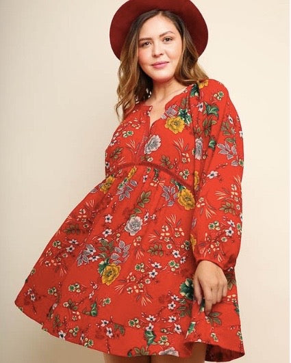 Babydoll Floral Dress