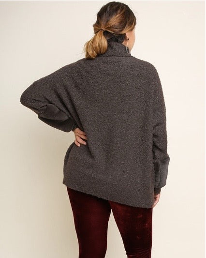 Fur Turtle Neck Pullover