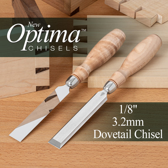 OPTIMA™ Dovetail Chisel  - 1/8 (0.125) 3.2mm (Shipping Late May 2021)