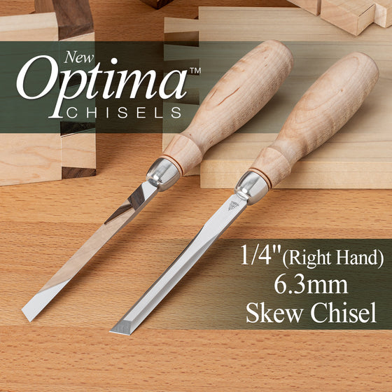 OPTIMA™ Skew Chisel 1/4 RIGHT HAND (0.250), 6.3mm (Shipping Late May 2021)