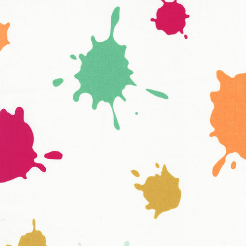 Double Dutch Fabric - Ice Cream Splat ($6/half yard)