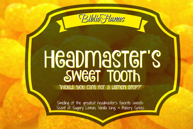 Great Headmaster's Sweet Tooth Harry Potter inspired Candle