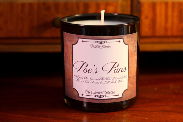 Poe's Puns - Edgar Allan Poe inspired candle