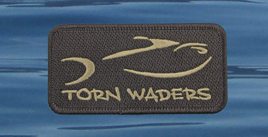 Torn Waders Embroidered Brown Dark Brown Patch