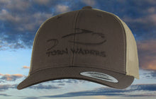 Torn Waders Brown and Khaki Trucker Brown Embroidered Fishing Hat Classic