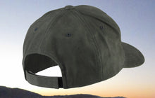 Dark Gray Brushed Cotton Black Embroidered Fishing Hat
