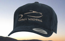 Torn Waders Navy Brushed Cotton Tan Embroidered Fishing Hat Classic