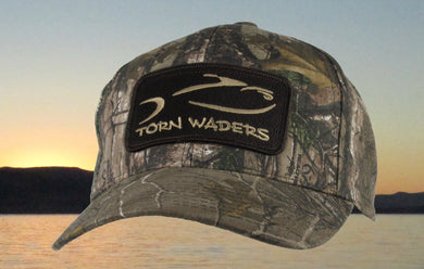 Torn Waders Realtree® Xtra Pro Camo Fishing Hat Brown Classic Patch