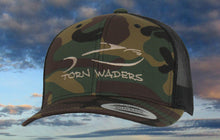 Torn Waders Camo Trucker Tan Embroidered Fishing Hat Classic
