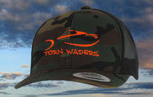 Torn Waders Camo Trucker Orange Embroidered Fishing Hat Classic