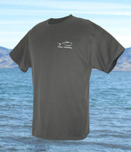 Fly Rod Flag Fishing T-Shirt - Smoke Gray T-Shirts- Torn Waders