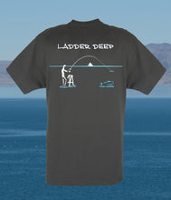 Torn Waders Smoke Gray Ladder Deep Fishing T-Shirt