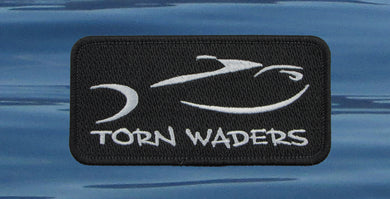 Torn Waders Embroidered Black Classic Patch