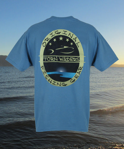 5-Star Fishing T-Shirt - Blue - Torn Waders