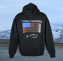 Torn Waders Fly Rod Flag Fishing Hoodie