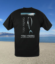 Torn Waders Hologram Black Fishing T-Shirt