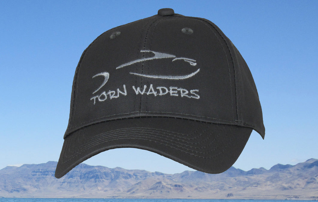 Charcoal Twill Youth Fishing Hat Torn Waders