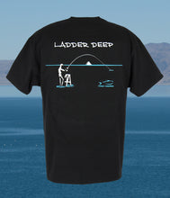 Torn Waders Black Ladder Deep Fishing T-Shirt