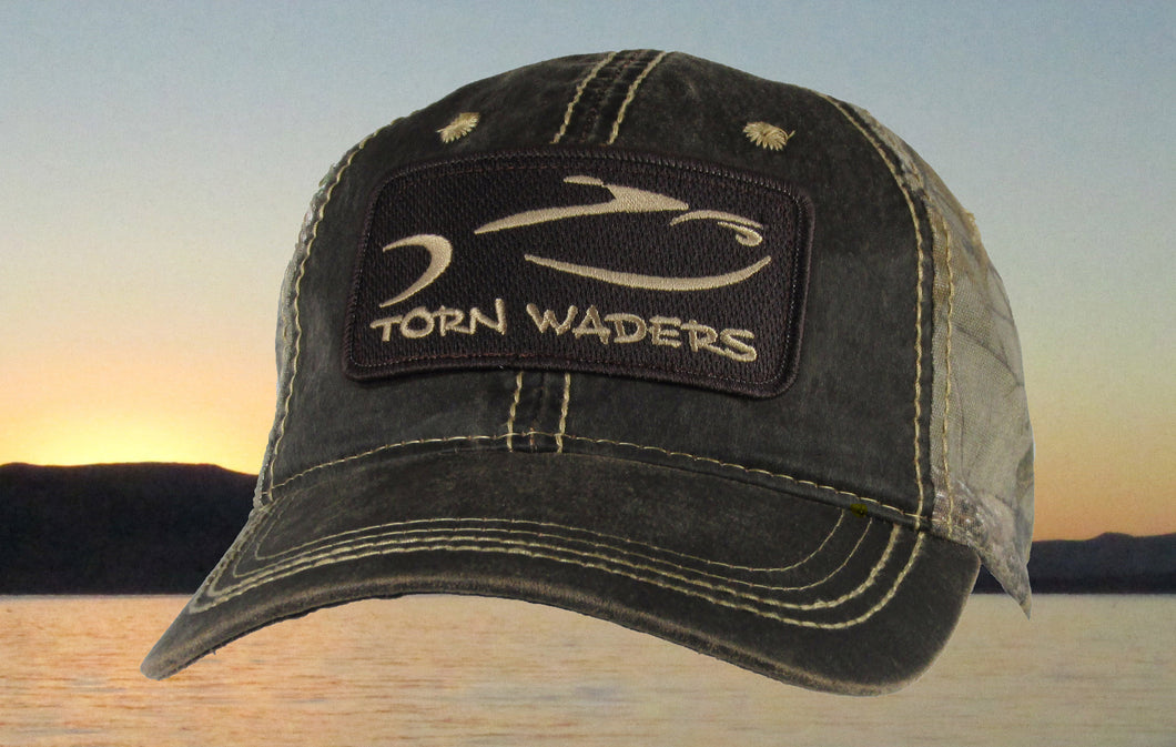 Torn Waders Realtree® Xtra Pigment Dyed Camo Fishing Hat Brown Classic Patch