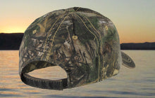 Realtree® Xtra Pigment Dyed Camo Fishing Hat - Dark Brown Patch Hat- Torn Waders