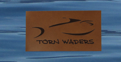 Torn Waders Leather Classic Patch