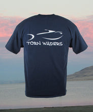 Torn Waders Classic Logo Navy Fishing T-Shirt
