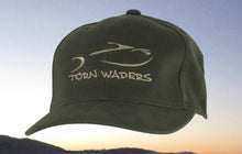Torn Waders Olive Brushed Cotton Champagne Embroidered Fishing Hat Classic