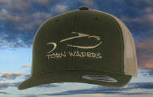 Torn Waders Moss and Khaki Trucker Champagne Embroidered Fishing Hat Classic