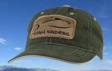 Torn Waders Olive Brushed Twill Fishing Hat Sand Classic Patch