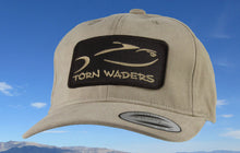 Torn Waders Khaki Brushed Cotton Fishing Hat Brown Classic Patch