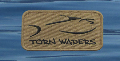 Torn Waders Embroidered Sand Classic Patch