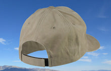Khaki Brushed Cotton Fishing Hat - Dark Brown Patch Hat- Torn Waders