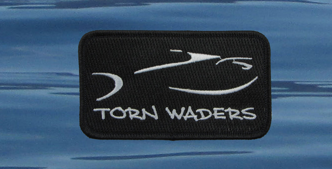 Torn Waders Embroidered Black Classic Small Patch