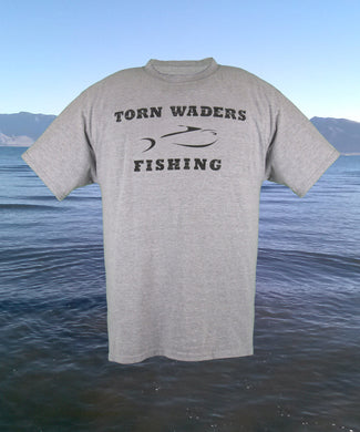 Torn Waders Team Wear Light Steel Fishing T-Shirt