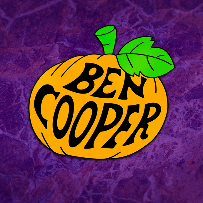 Ben Cooper. Iconic Pumpkin Logo Sticker :: Halloween, Fashion, Apparel