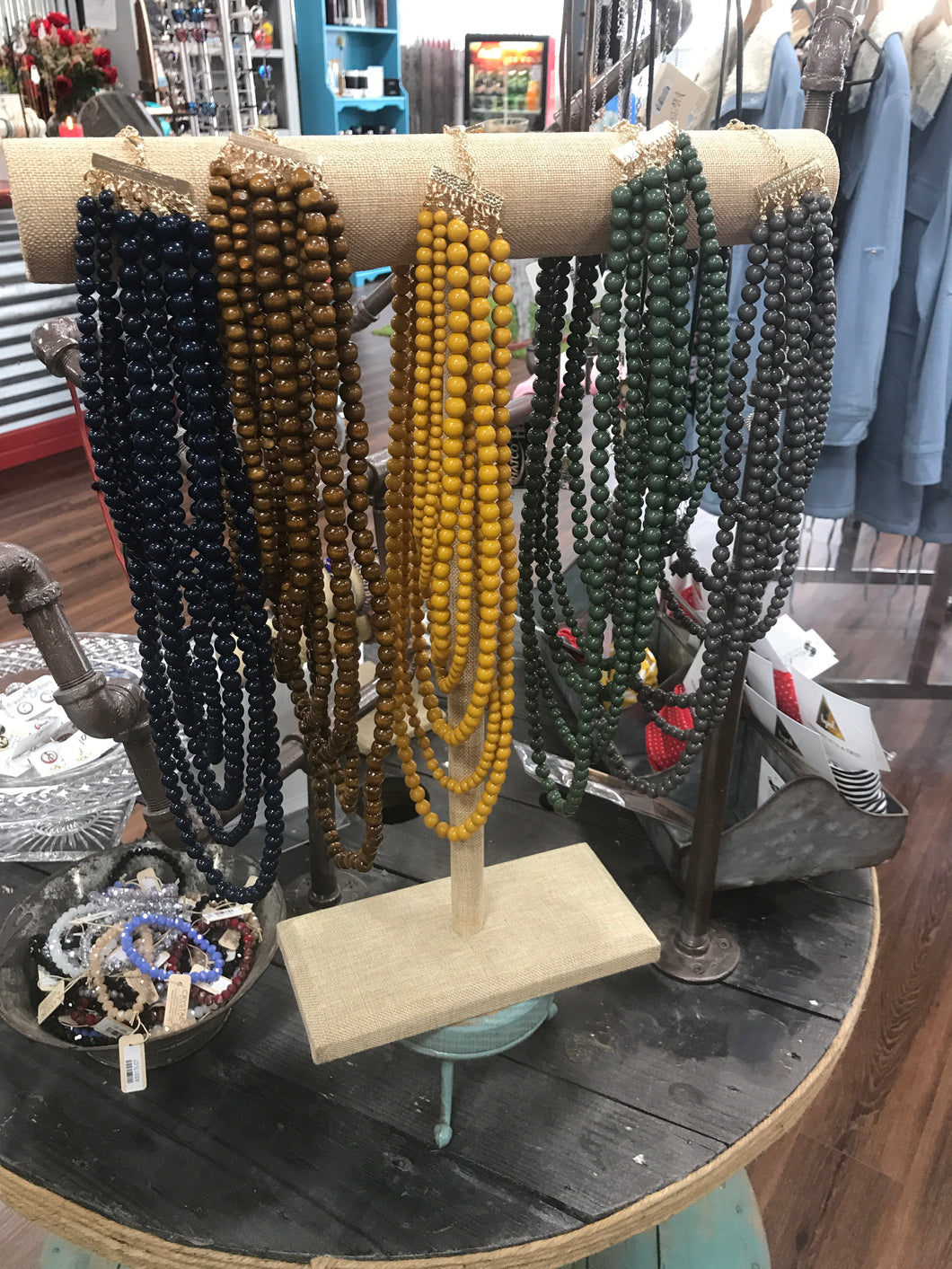 Tiered beaded necklaces