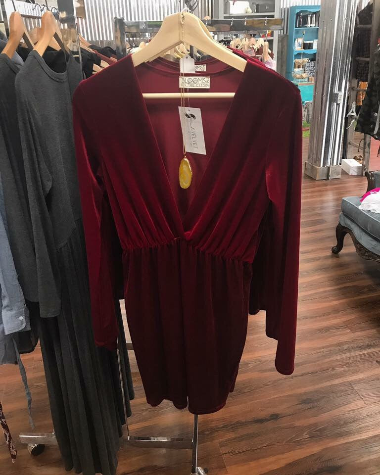 Bloom in the City Velvet Dress