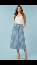 Listicle Denim Button Down Long Skirt