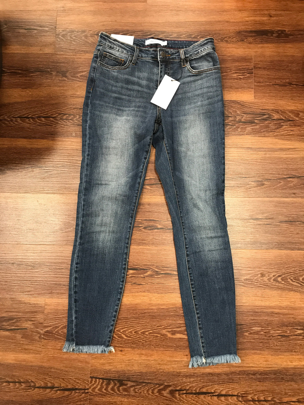 Cello frayed medium wash denim