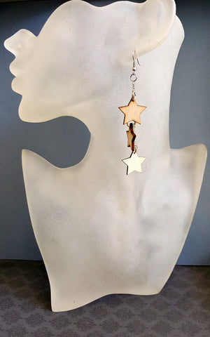 Boho Star Design Earrings