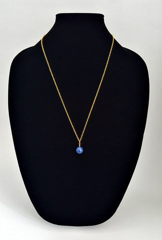 Gold Layering Chain with Blue Lapis