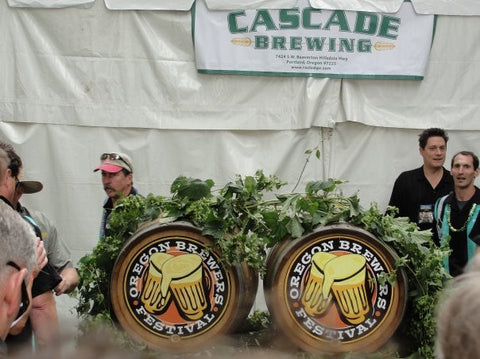 Oregon Brewers Festival casks in Portland, Oregon - Sudsy Style - beer fashion for your beer passion